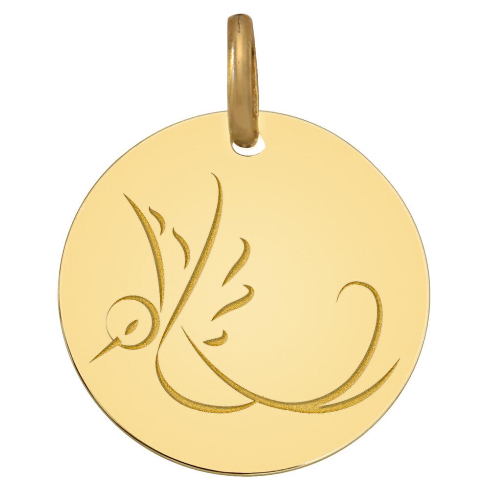 Photo de Médaille Colombe en vol - Or jaune 18ct