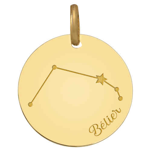 Photo de Médaille signe zodiaque constellation - Or jaune 9ct