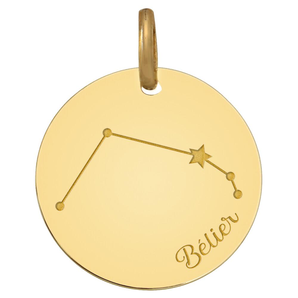 Photo de Médaille signe zodiaque constellation - Or jaune 18ct