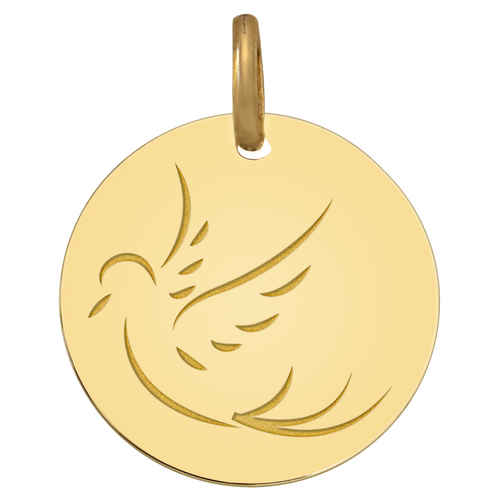 Photo de Médaille Colombe de paix - Or jaune 9ct