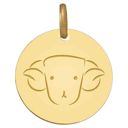 Photo de Médaille signe zodiaque - Or jaune 9ct