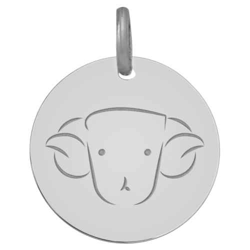 Photo de Médaille signe zodiaque - Or blanc 9ct