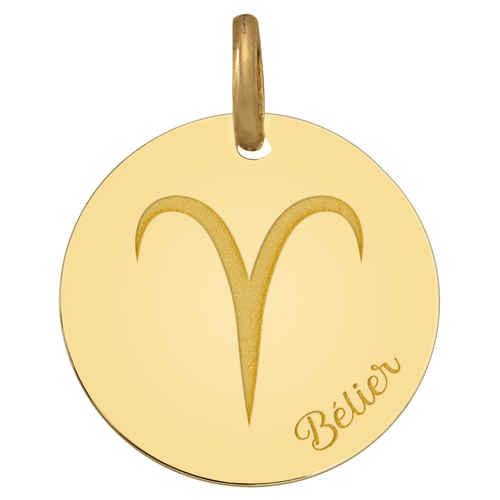 Photo de Médaille signe zodiaque - Or jaune 18ct