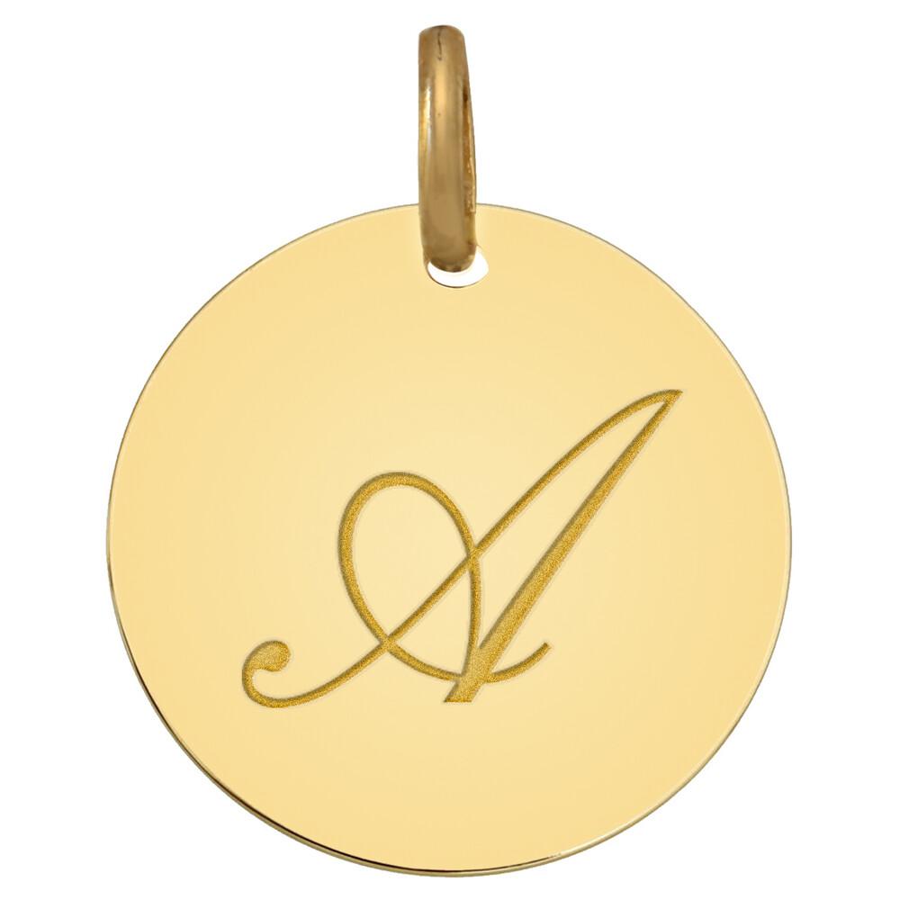 Photo de Médaille initale - Or jaune 9ct