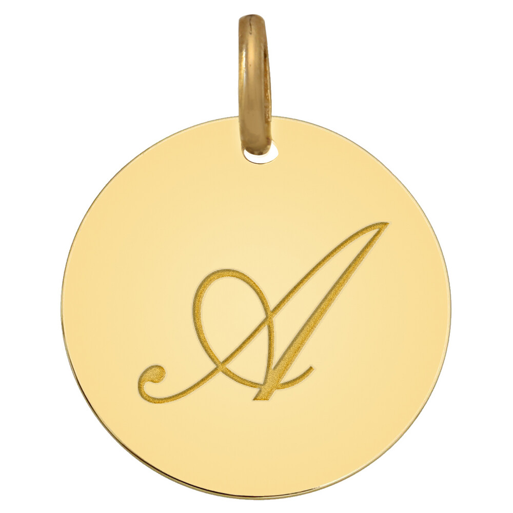 Photo de Médaille initale - Or jaune 18ct