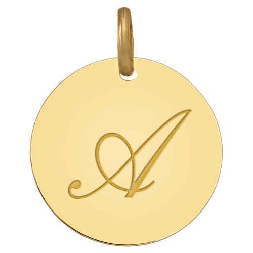 Photo de Médaille initale - Or jaune 18ct