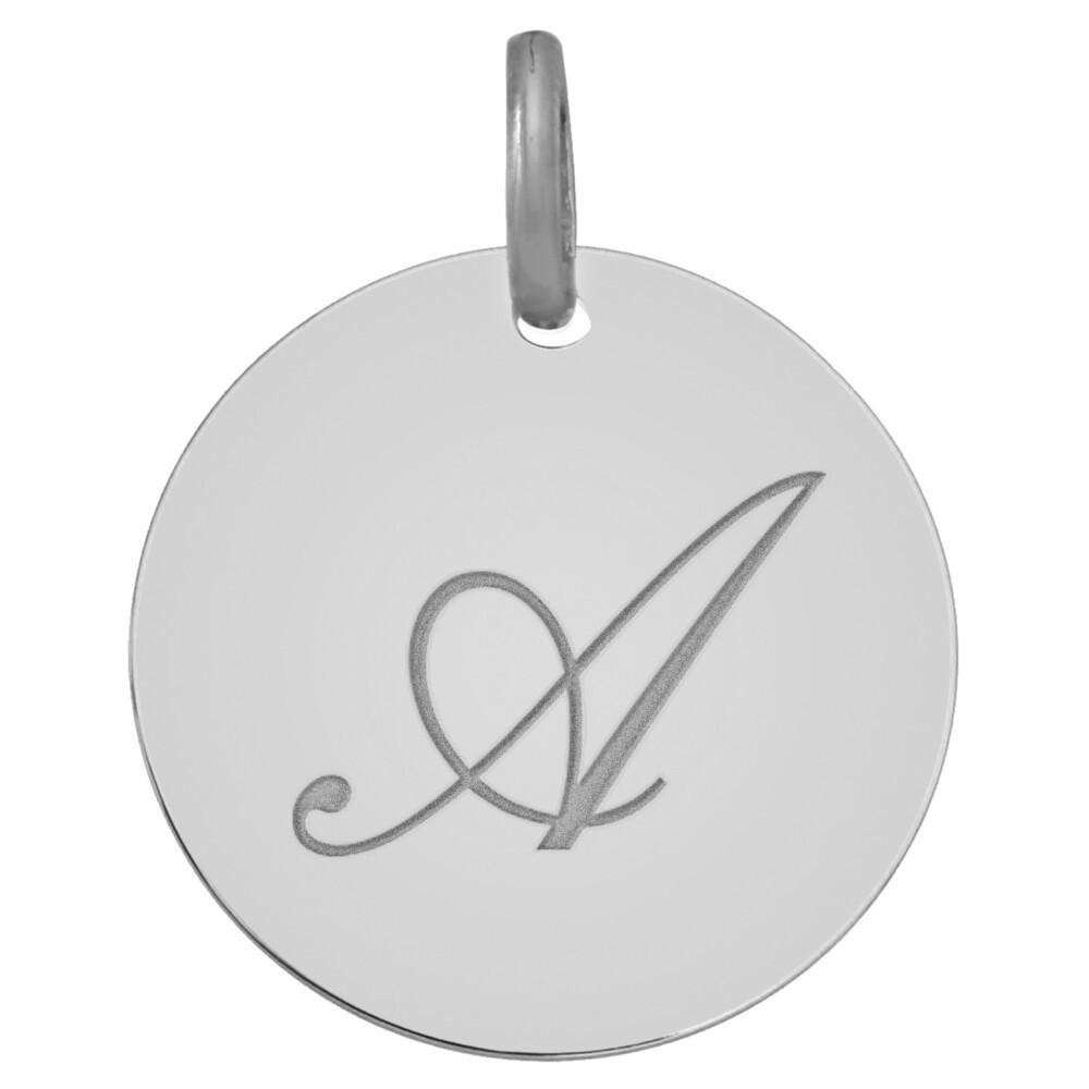 Photo de Médaille initale - Or blanc 9ct