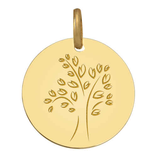Photo de Médaille Arbre de vie moderne - Or jaune 18ct