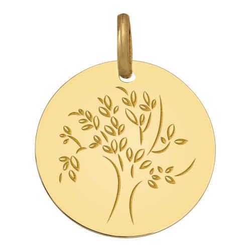 Photo de Médaille Arbre de vie captivant - Or jaune 18ct