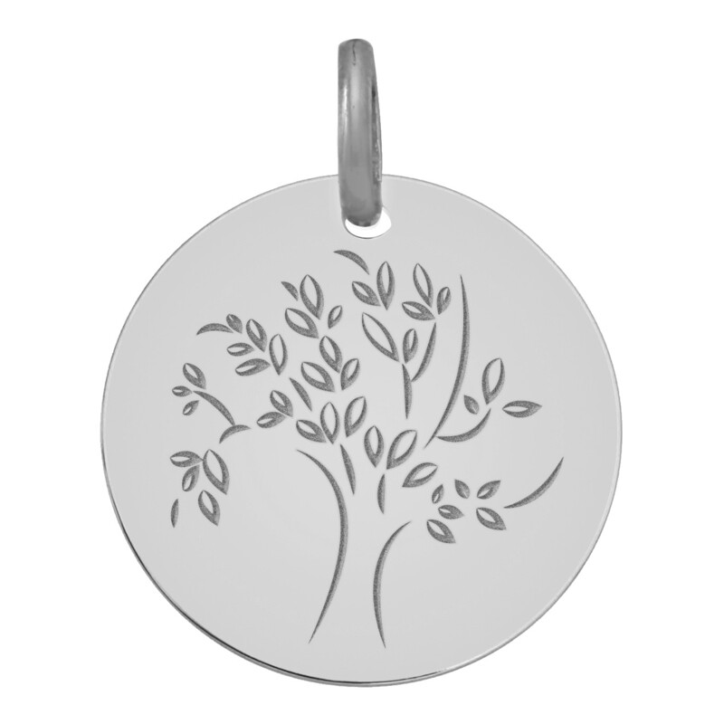 Photo de Médaille Arbre de vie captivant - Or blanc 18ct