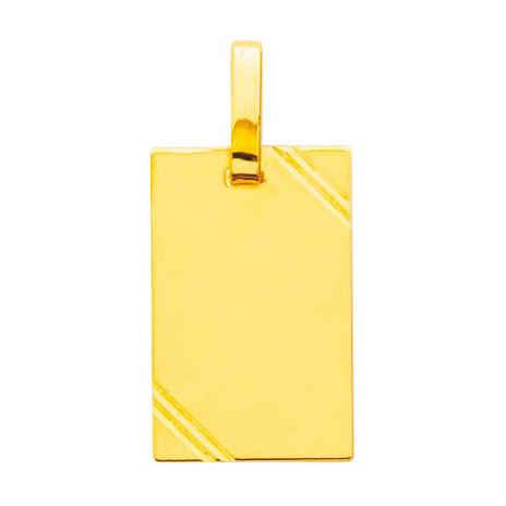 Photo de Pendentif plaque striée - Or jaune 18ct