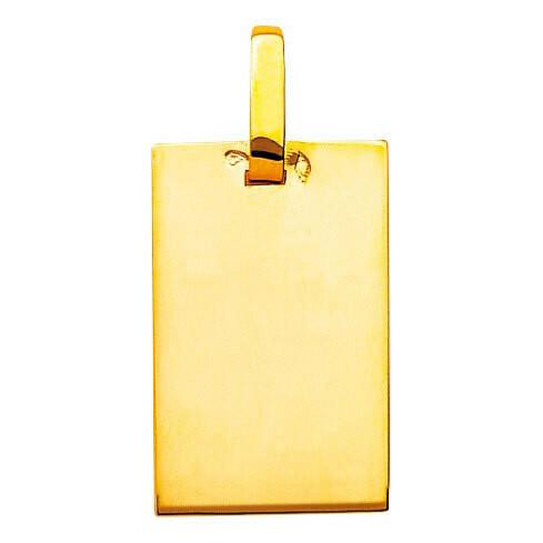 Photo de Pendentif plaque - Or jaune 18ct