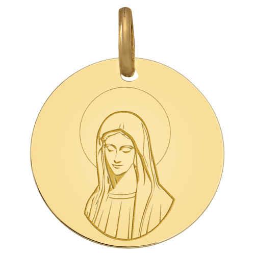 Photo de Médaille Vierge pensive - Or jaune 9ct