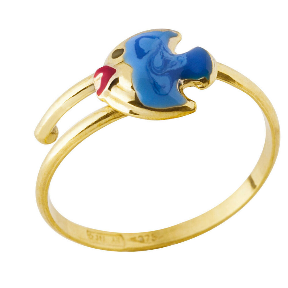 Photo de Bague enfant poisson - Or jaune 9ct