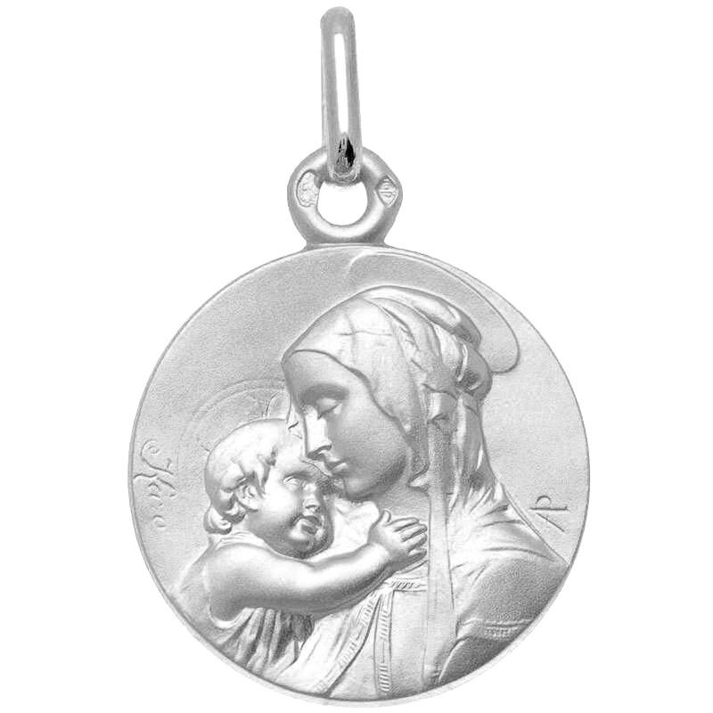 Photo de Médaille Vierge à l'enfant de Botticelli - Argent massif