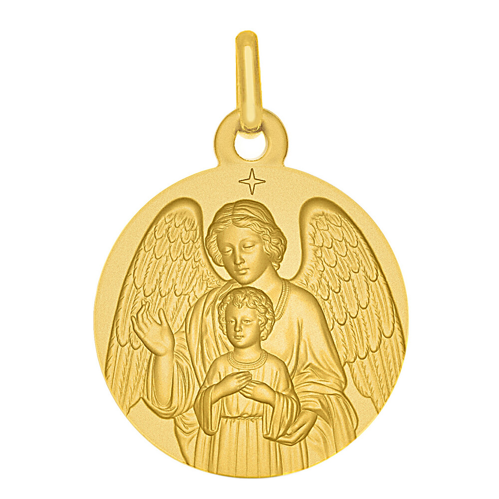 Photo de Médaille Ange Gardien - Or jaune 18ct