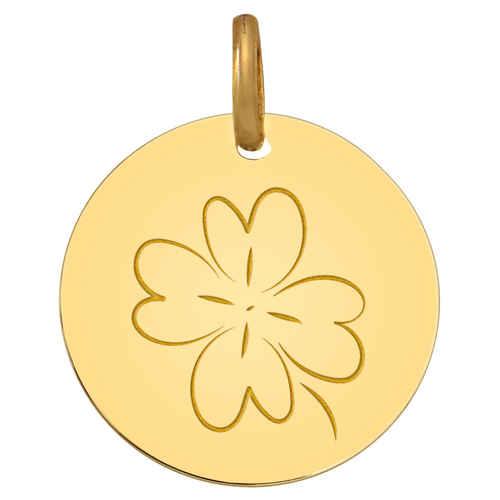 Photo de Médaille Trèfle - Or jaune 9ct
