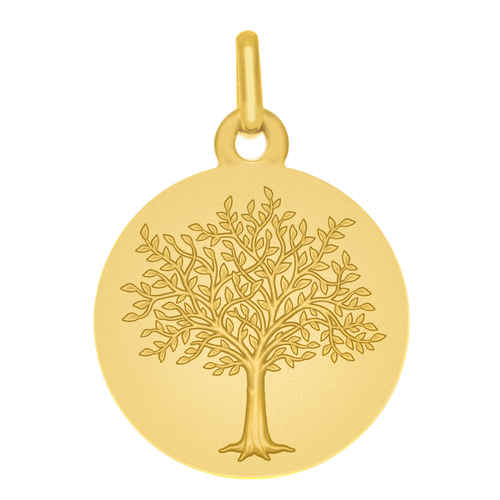 Photo de Médaille Arbre de vie Princier - Or jaune 18ct