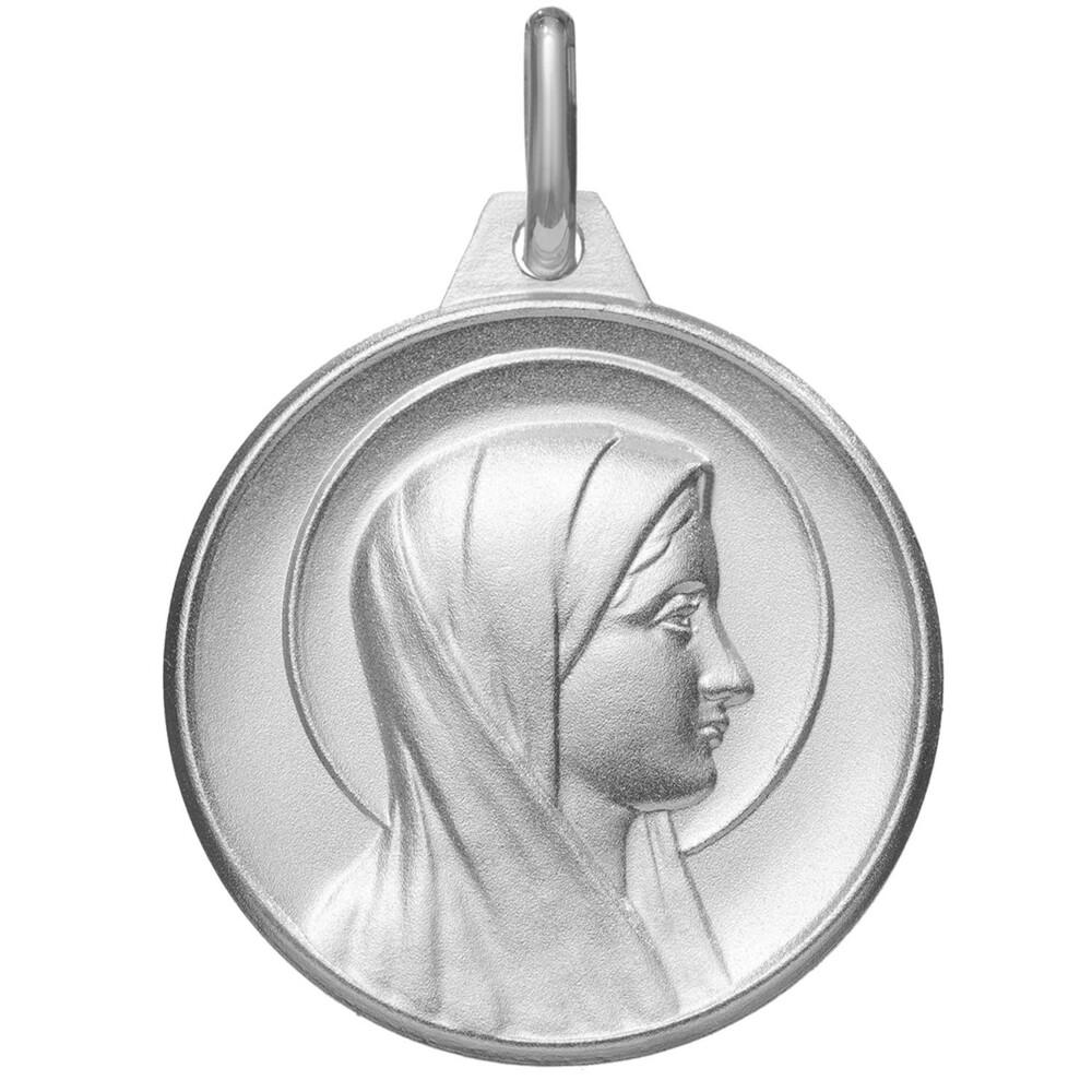 Photo de Médaille Vierge Marie auréolée - Argent massif