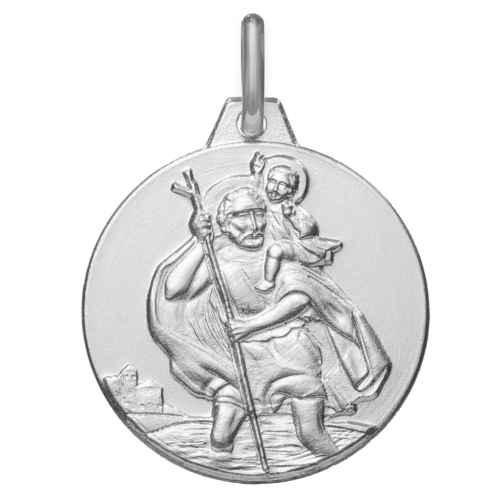 Photo de Médaille Saint Christophe - Argent massif