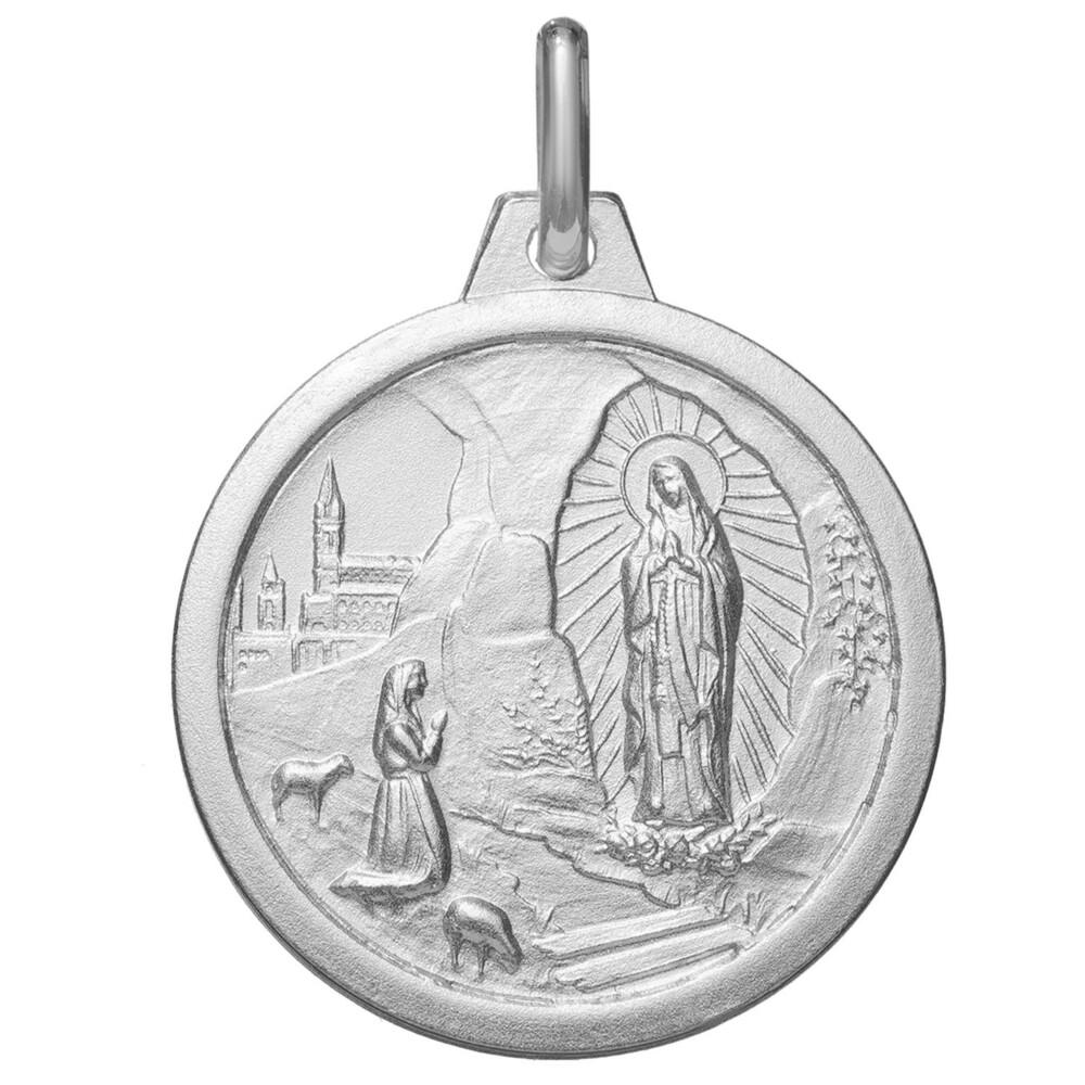 Photo de Médaille Vierge de Lourdes - Argent massif