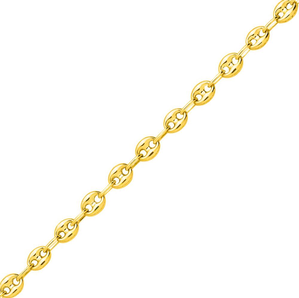 Photo de Chaine grain de café - Or jaune 9ct