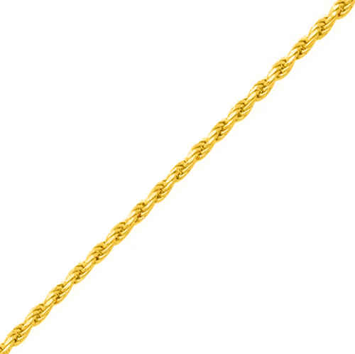 Photo de Chaine corde - Or jaune 18ct