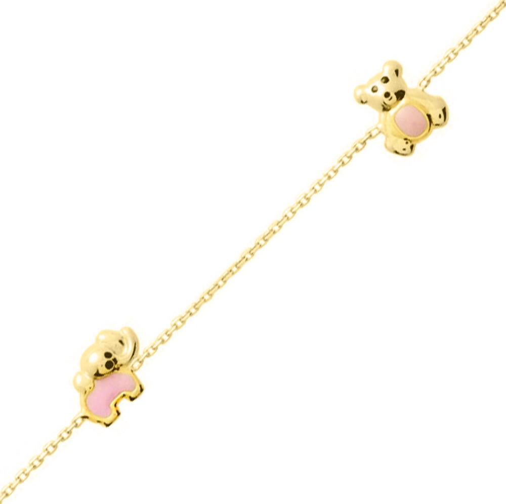 Photo de Bracelet enfant animaux - Or jaune 18ct