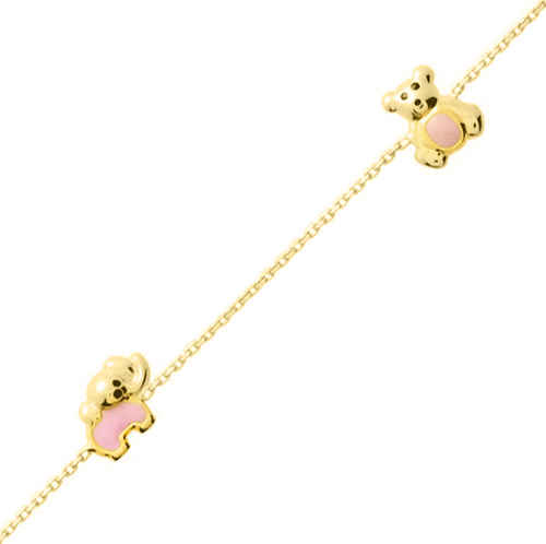 Photo de Bracelet enfant animaux - Or jaune 18ct