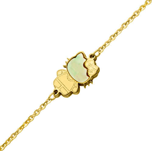 Photo de Bracelet Kitty - Or jaune 9ct & nacre