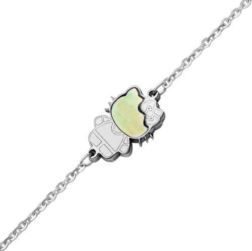 Photo de Bracelet Kitty - Or blanc 9ct & nacre