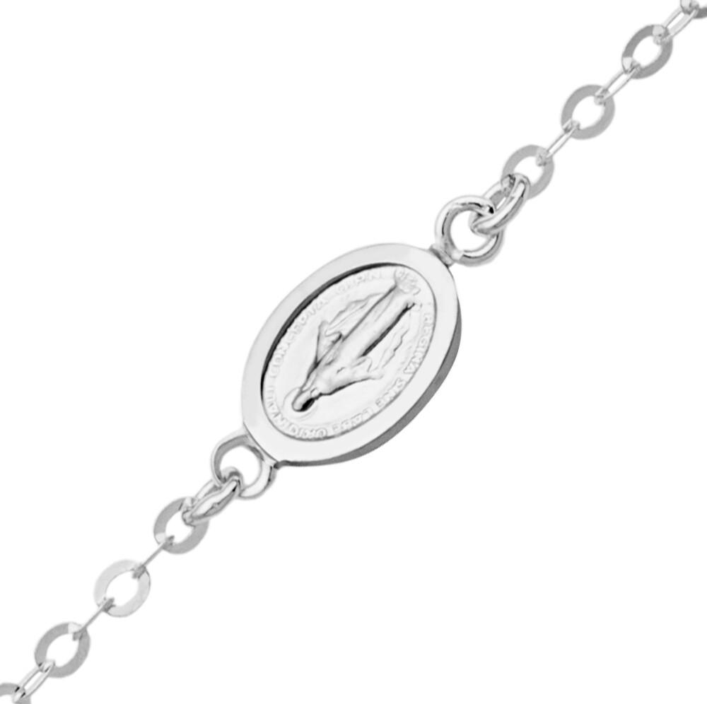 Photo de Bracelet enfant médaille miraculeuse - Or blanc 18ct