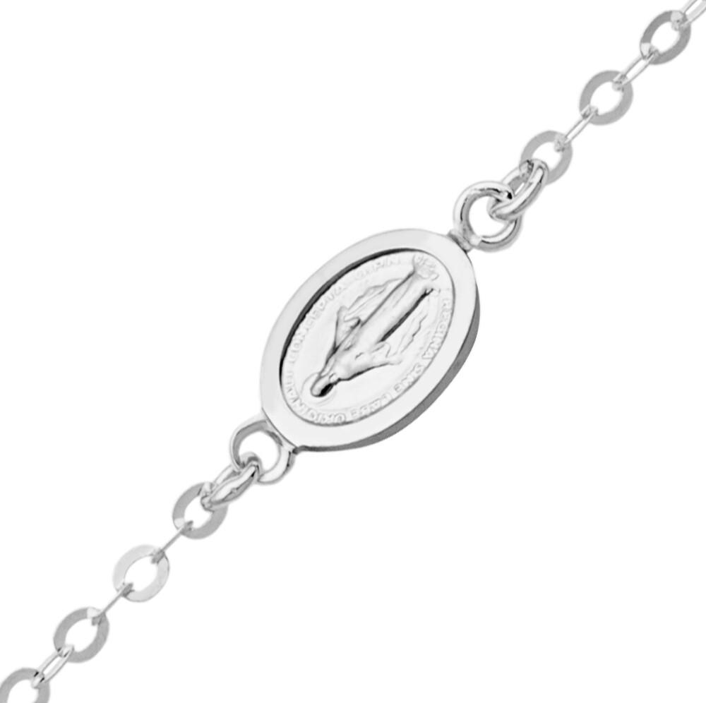 Photo de Bracelet enfant médaille miraculeuse - Or blanc 9ct