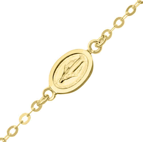 Photo de Bracelet enfant médaille miraculeuse - Or jaune 18ct