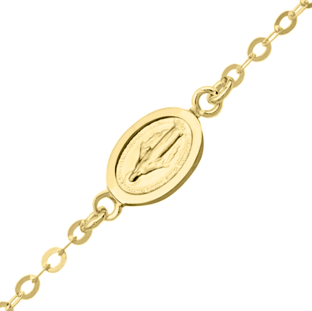 Photo de Bracelet enfant médaille miraculeuse - Or jaune 9ct