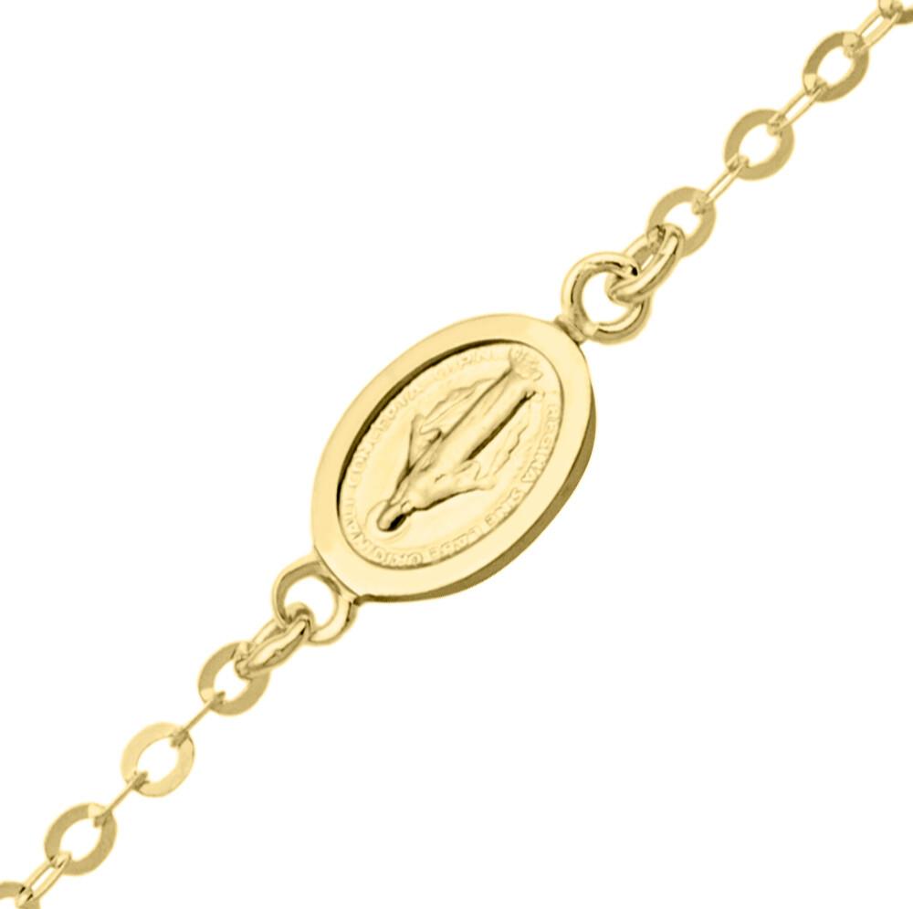 Photo de Bracelet enfant médaille miraculeuse - Or jaune 9ct