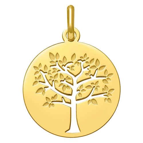Photo de Médaille Arbre de vie printanier ajourée - Or jaune 9ct