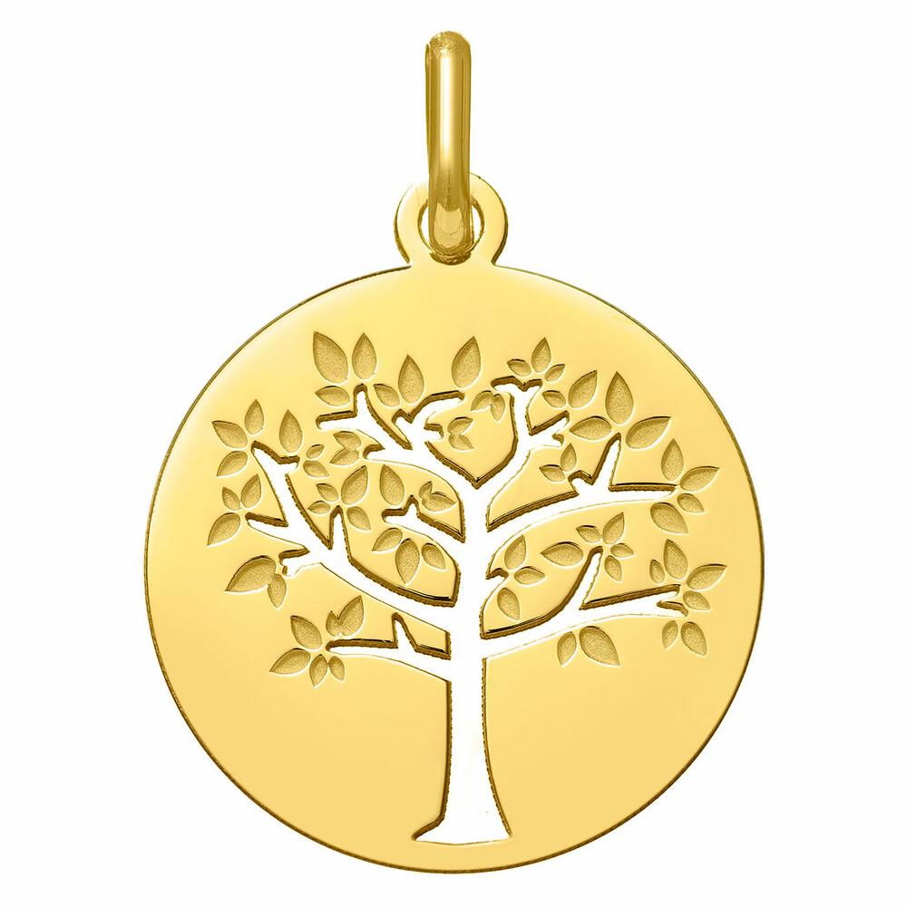 Photo de Médaille Arbre de vie printanier ajourée - Or jaune 18ct