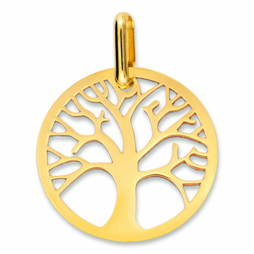 Photo de Médaille Arbre de vie ajourée - Or jaune 18ct