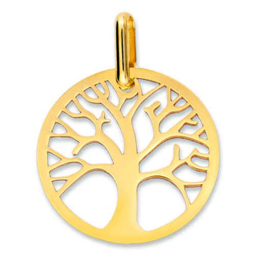 Photo de Médaille Arbre de vie ajourée - Or jaune 9ct