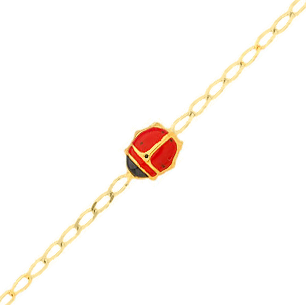 Photo de Bracelet enfant Coccinelles - Or jaune 18ct