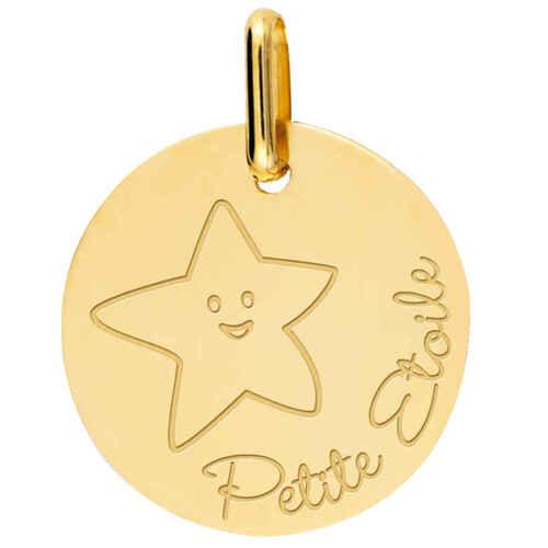Photo de Médaille Etoile - Or jaune 18ct