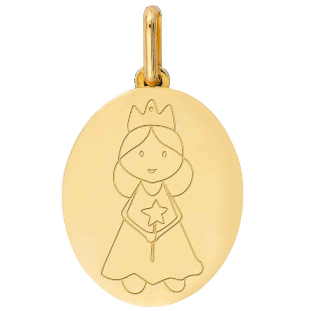 Photo de Médaille Petite Fée - Or jaune 18ct