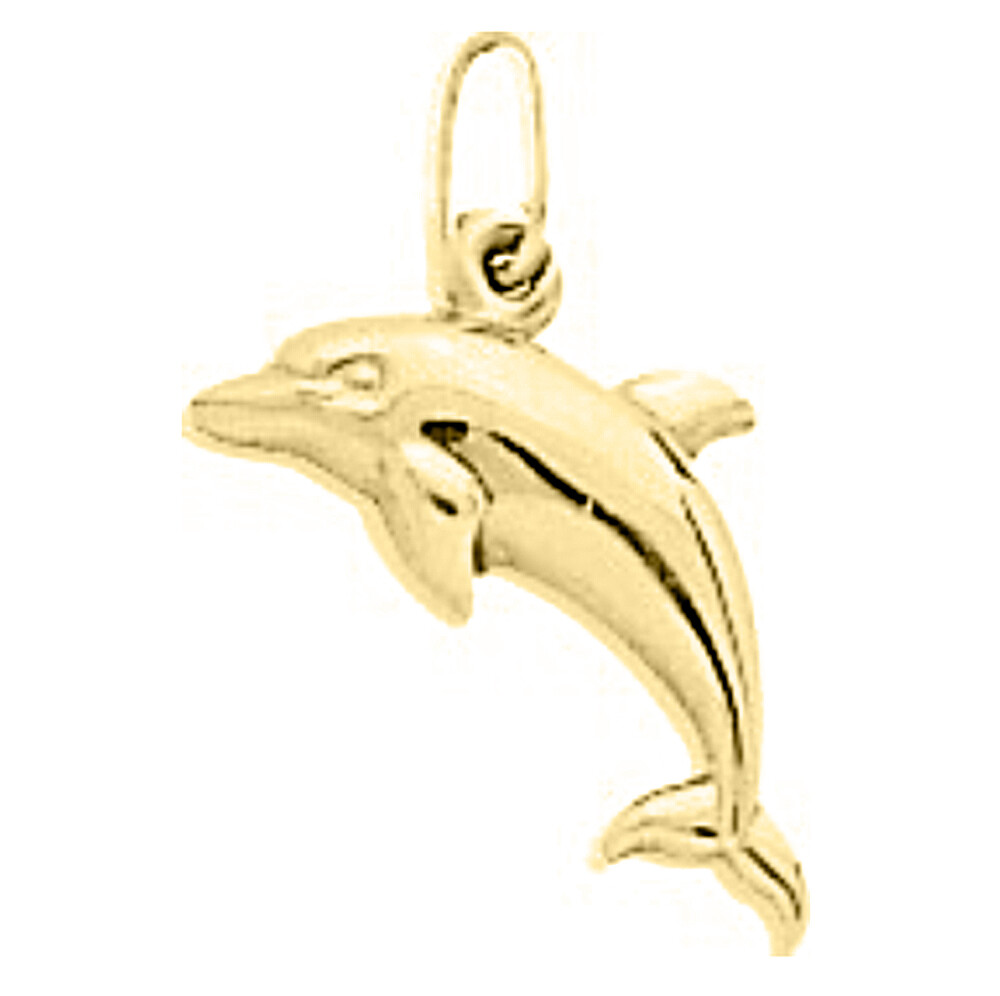 Photo de Pendentif dauphin - Or jaune 9ct