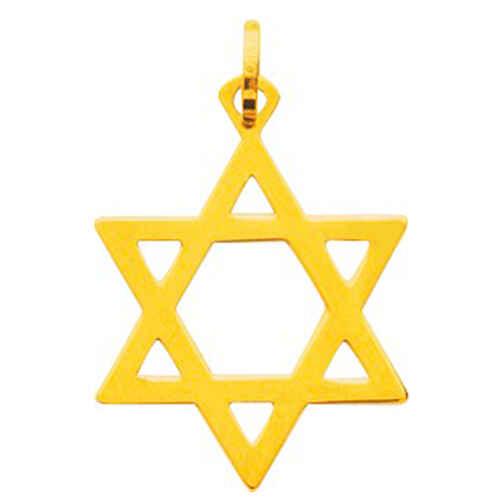 Photo de Pendentif étoile de david - Or jaune 18ct