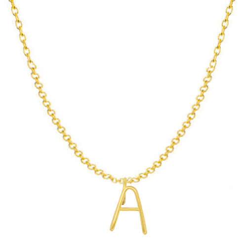 Photo de Collier initiale - gold filled 14ct