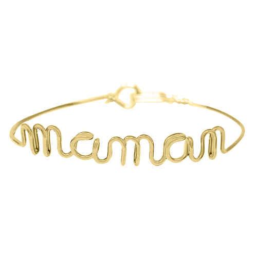 Photo de Bracelet jonc maman - gold filled 14ct