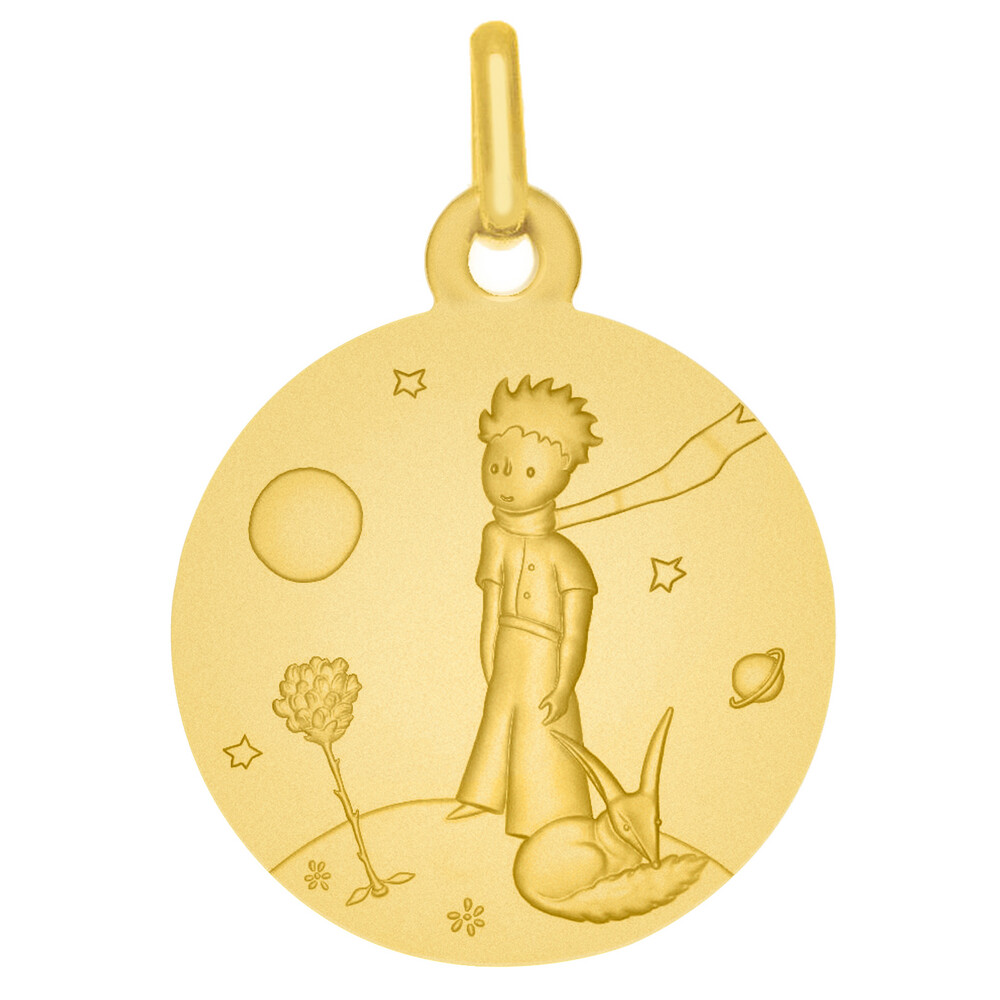 Photo de Médaille Petit Prince au renard - Or jaune 9ct