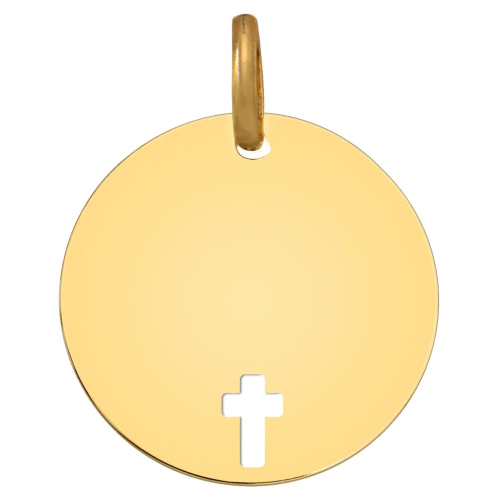 Photo de Médaille Croix ajourée - Or jaune 9ct