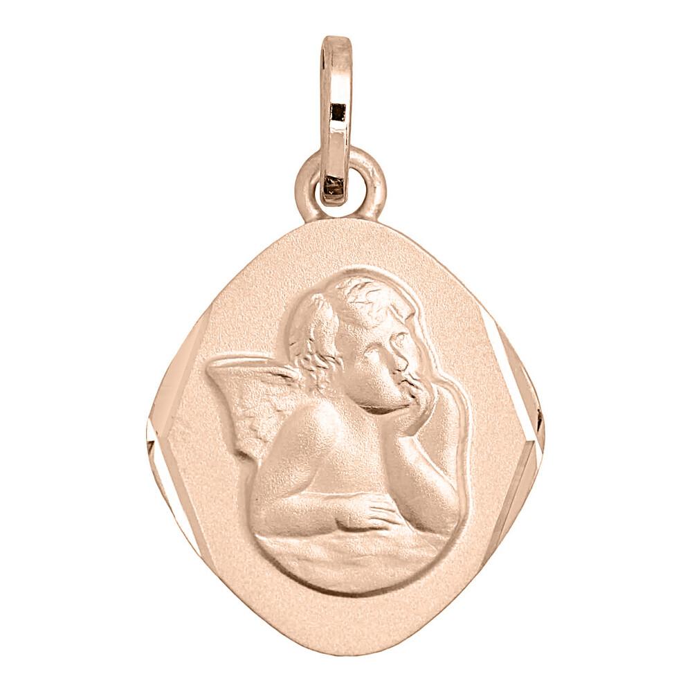 Photo de Médaille Ange losange - Or rose 18ct